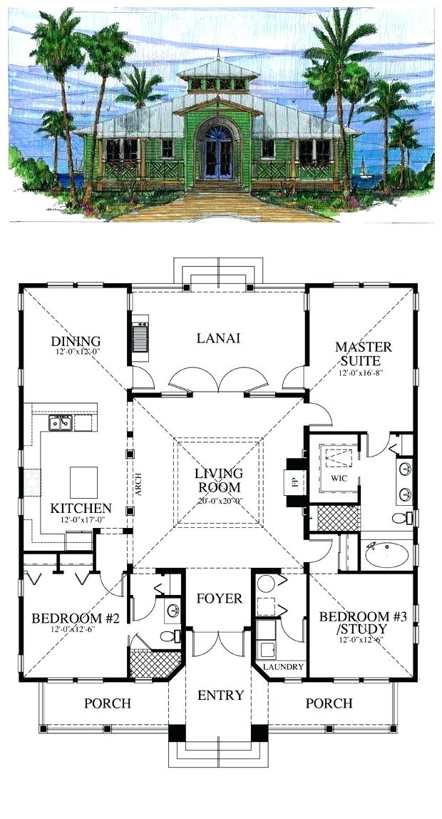 Cottage Style Home Floor Plan Cracker Style Cool House Plan Id Total Living Area Sq Ft 3 Bedrooms 2 Bathrooms Cracker Home Rumah Minimalis Desain Rumah Desain