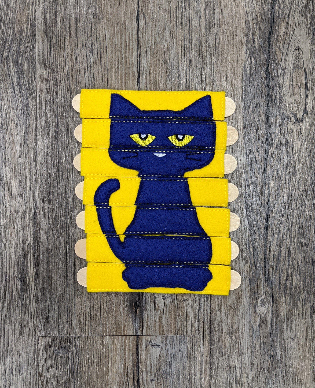 Pete The Cat Stick Puzzle Blue Cat Busy Bag Quiet Time