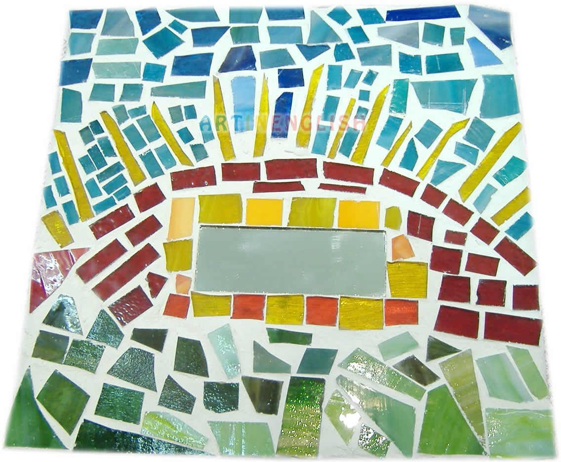 Art Activities: Glass Tile Mosaic Art Project For Adults   art