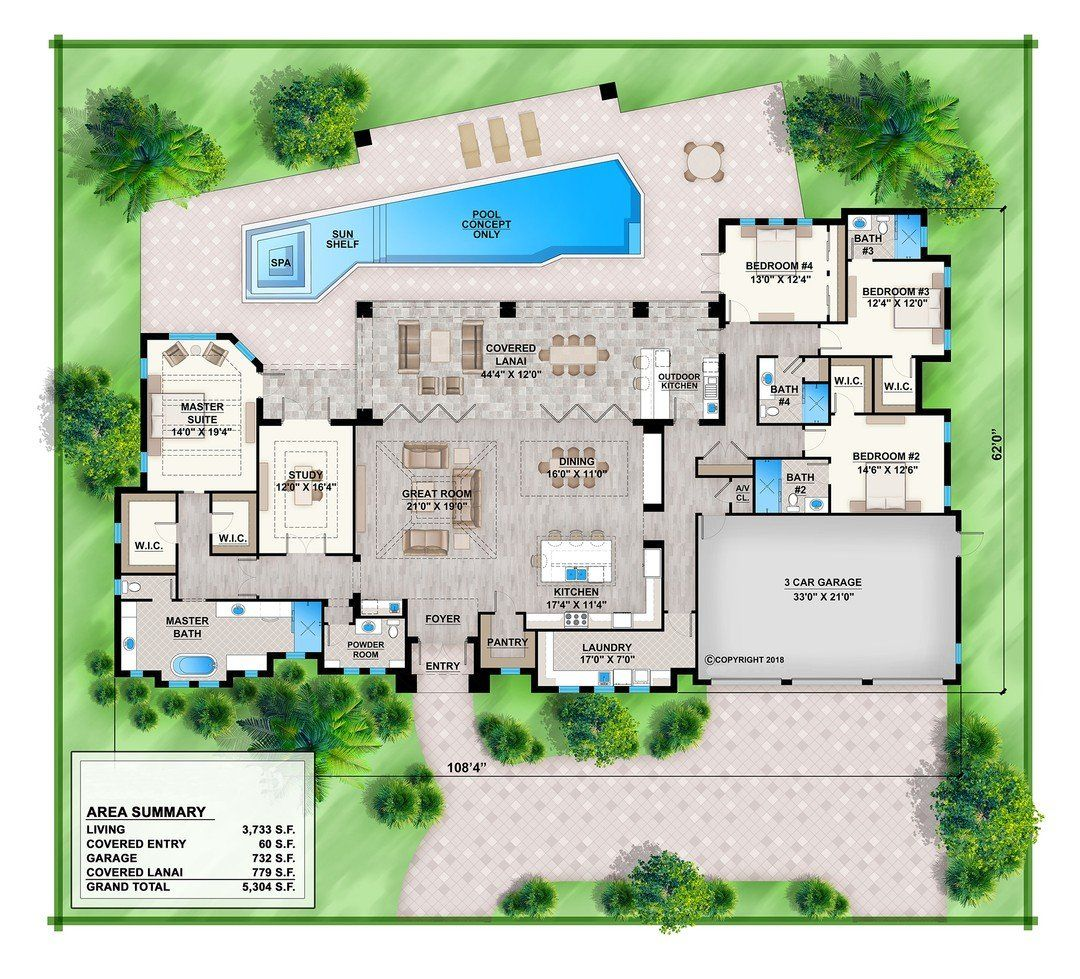 Hpm Home Plans Home Plan 009 3733 Contemporary House Plans One Story Homes House Plans