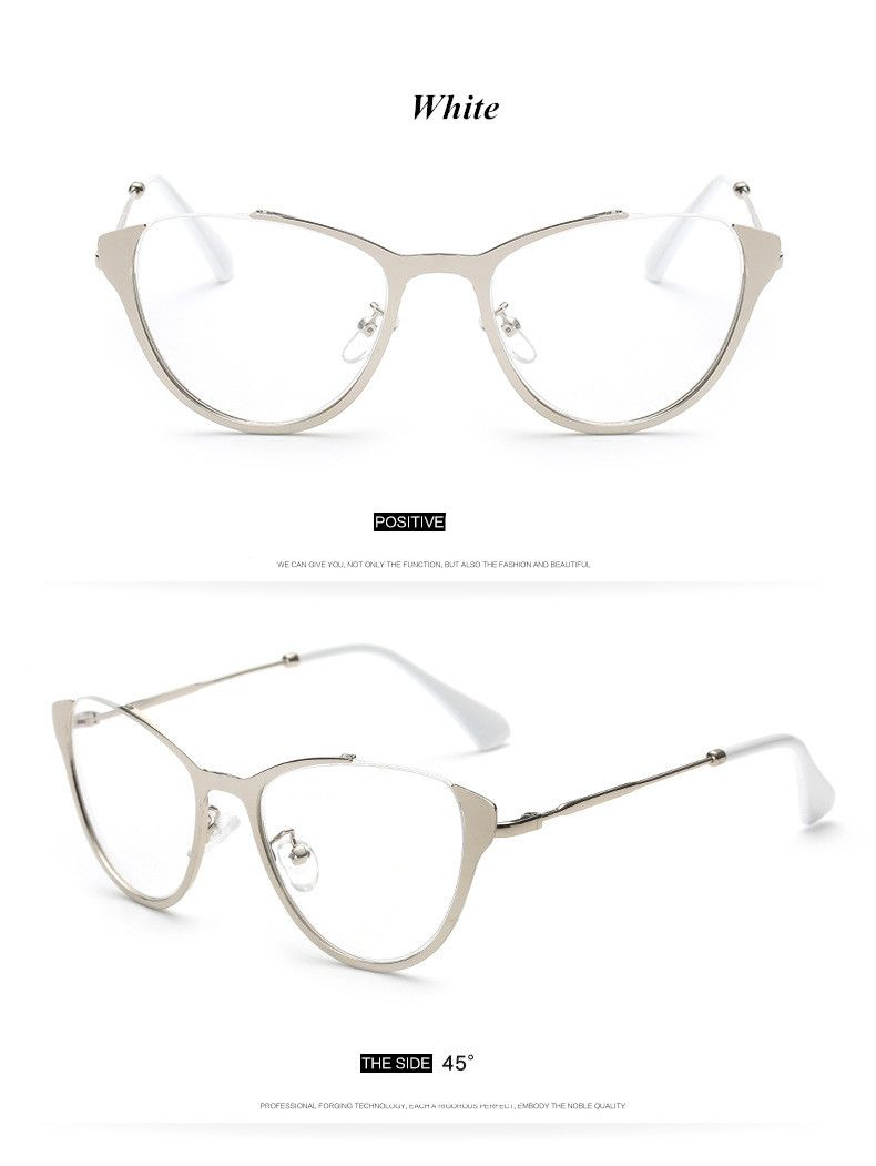 eee082070b7cf 2017 Brand Fashion Cat Eye Glasses Retro Vintage Metal Optical Frame  Reading Glasses Men Women Myopia