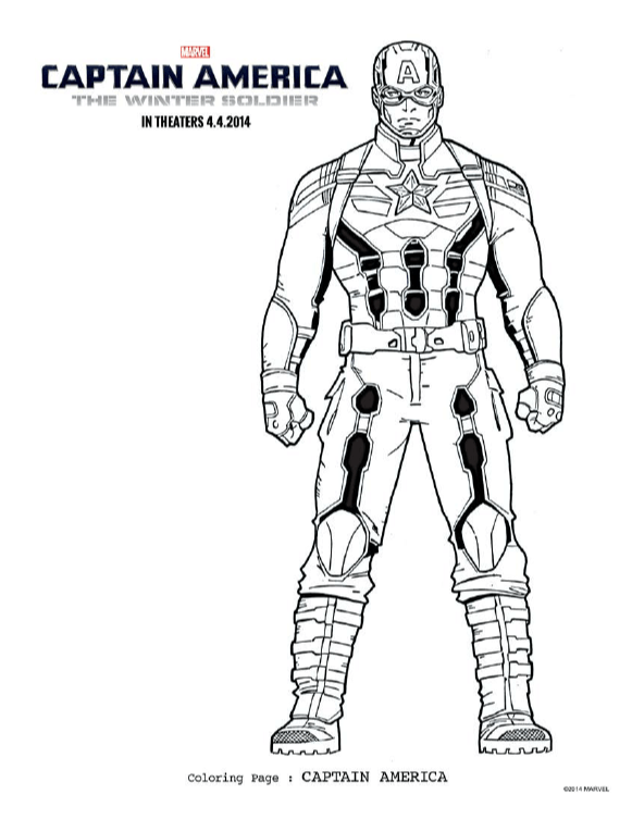 disney captain america coloring pages - photo#7