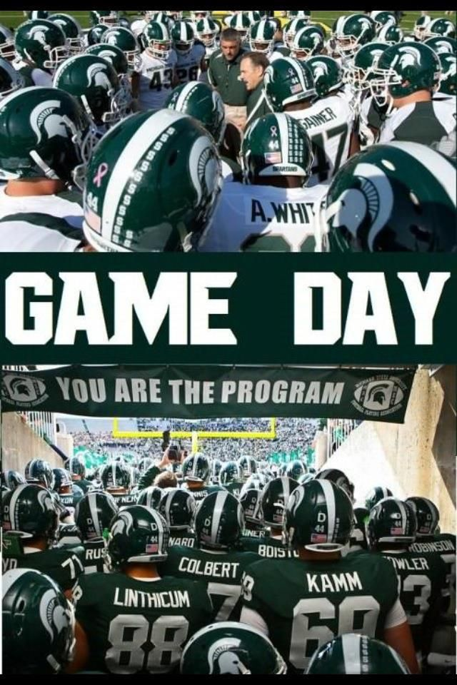 It S A Beautiful Day For Football Spartans Michigan State Spartans Football Michigan State Football Msu Spartans Football