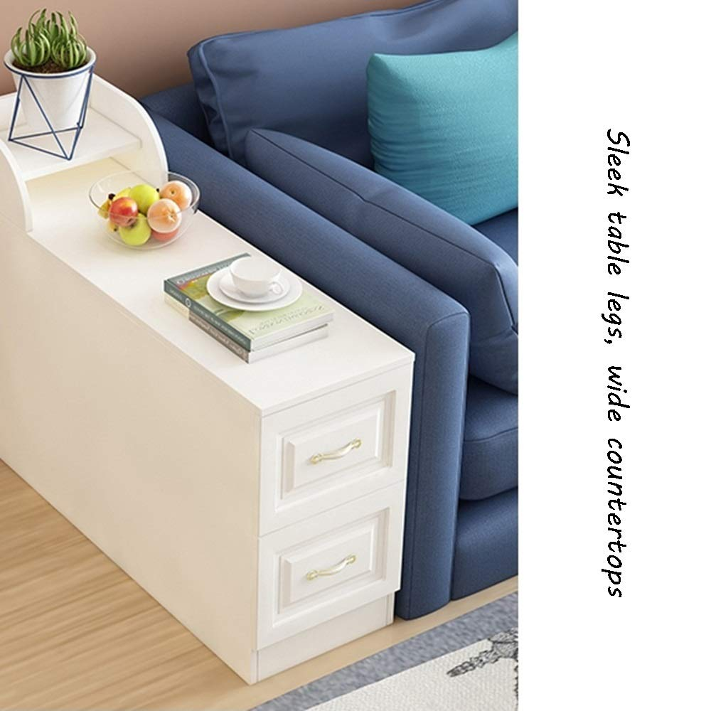 Amazon Com Bseack Small Coffee Table Side Cabinet Multifunction Locker With 2 Drawers Bedside Table Diversifie Living Room Table Sofa Side Table Corner Table [ png ]