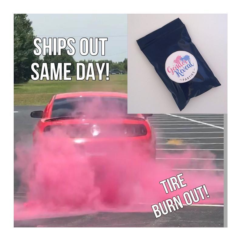 Premium Burnout Gender Reveal Tire Pack Burnout Pink Blue Etsy Gender Reveal Gender Orange And Purple