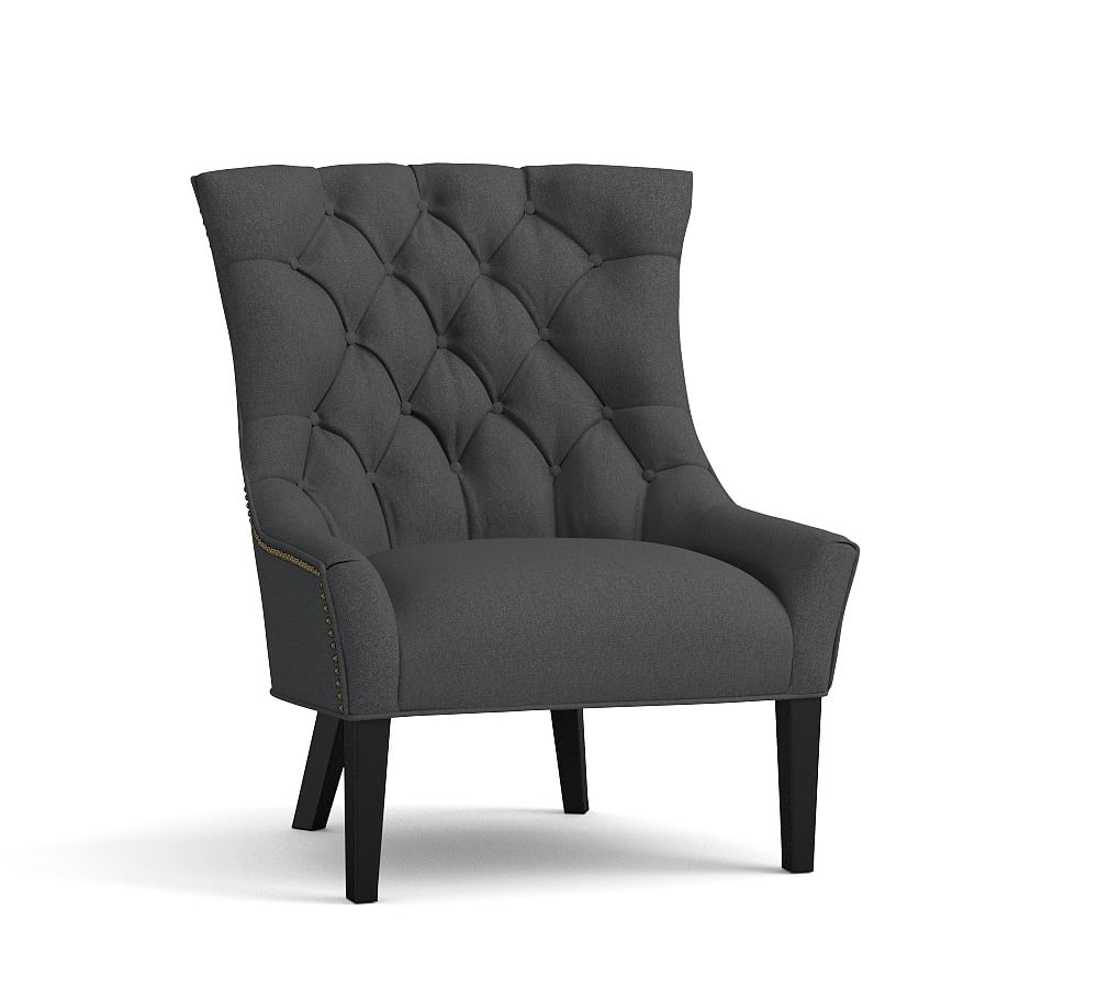 Hayes Upholstered Tufted Armchair Polyester Wrapped