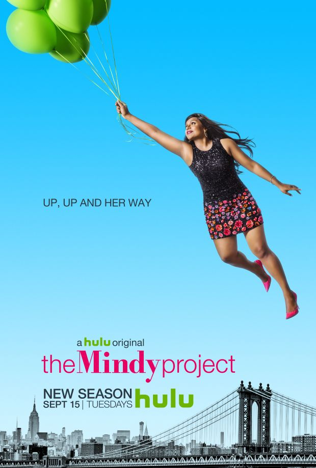 Mindy Project Dr Lahiri Defies Gravity Gets Cheeky In Season 4 Posters The Mindy Project Comedy Tv Mindy