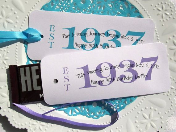 80th Birthday Party Favors By AbbeyandIzzieDesigns