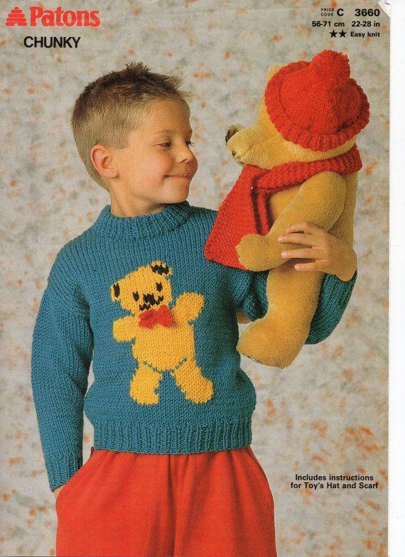 childrens teddy bear sweater knitting pattern pdf ...
