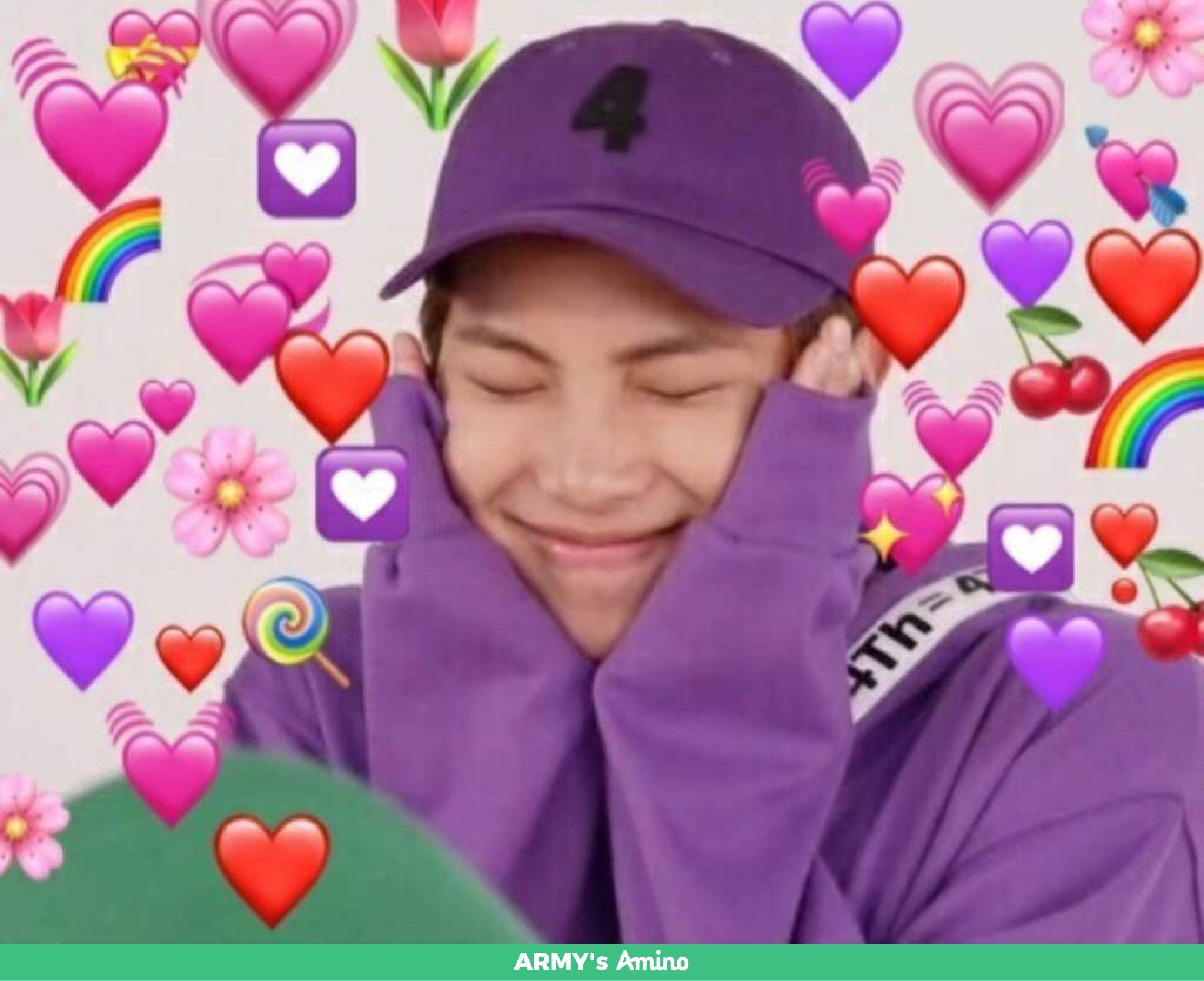 Pin By Tata On Bts Heartu Bts Meme Faces Bts Emoji Heart Meme