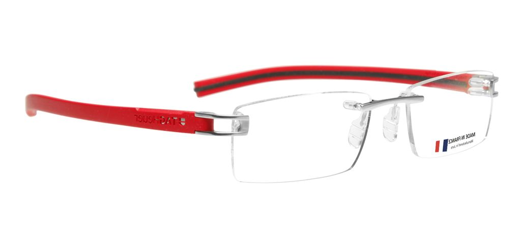 c7891d340 Image showing the Tag Heuer Rimless Reflex TH7643 005 Glasses. This is a  red/