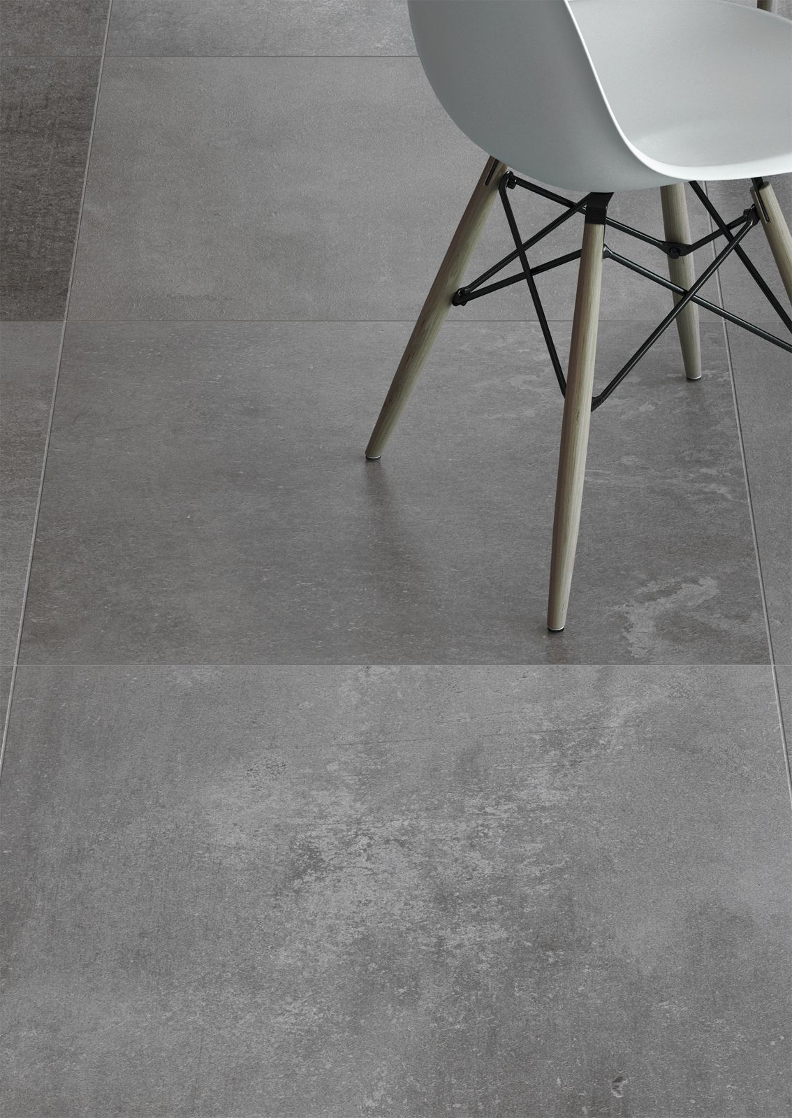 Cement bathroom tiles - Panache Grey Cement Effect Floor Tiles