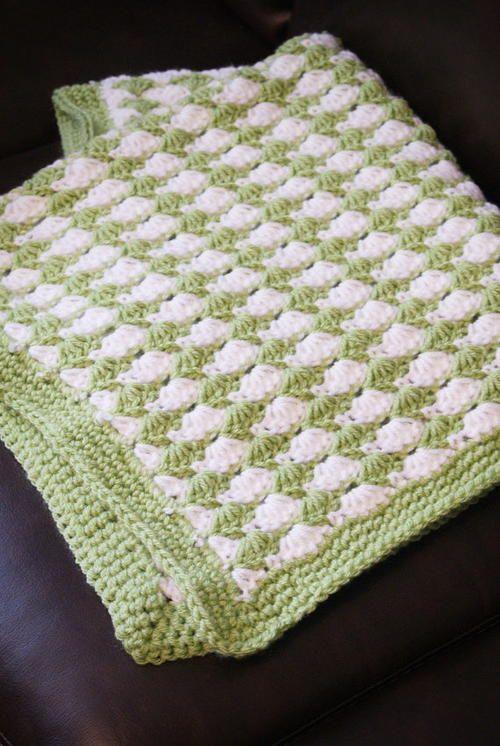 Shell Stitch Blanket   Manta, Mantas para bebés y Cuadrados de abuelita