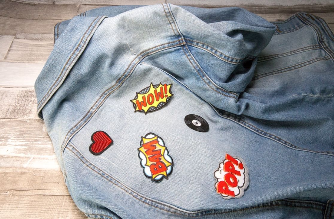 applikationen für jeans jacke
