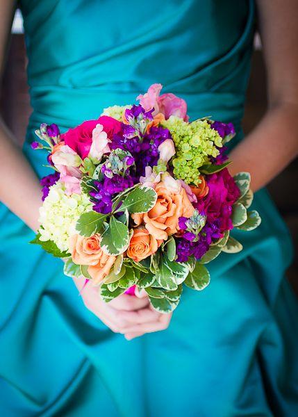 Color palette teal purple dress