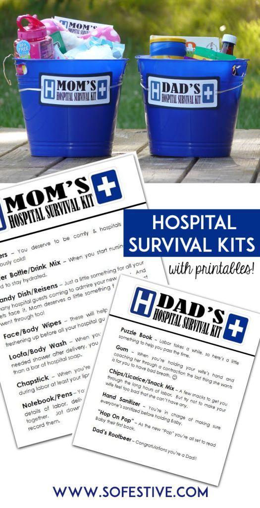 Hospital Survival Kits | Baby | Pinterest | Geschenke, Baby ...