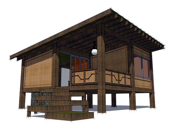 House plan chp 49816 at take out for Sleeping cabin plans
