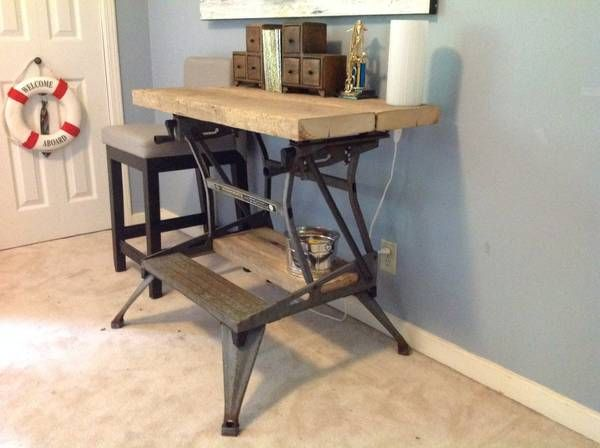 Industrial Style Using An Old Workmate Bench Workshop Bench Tool Bench Woodworking Bench