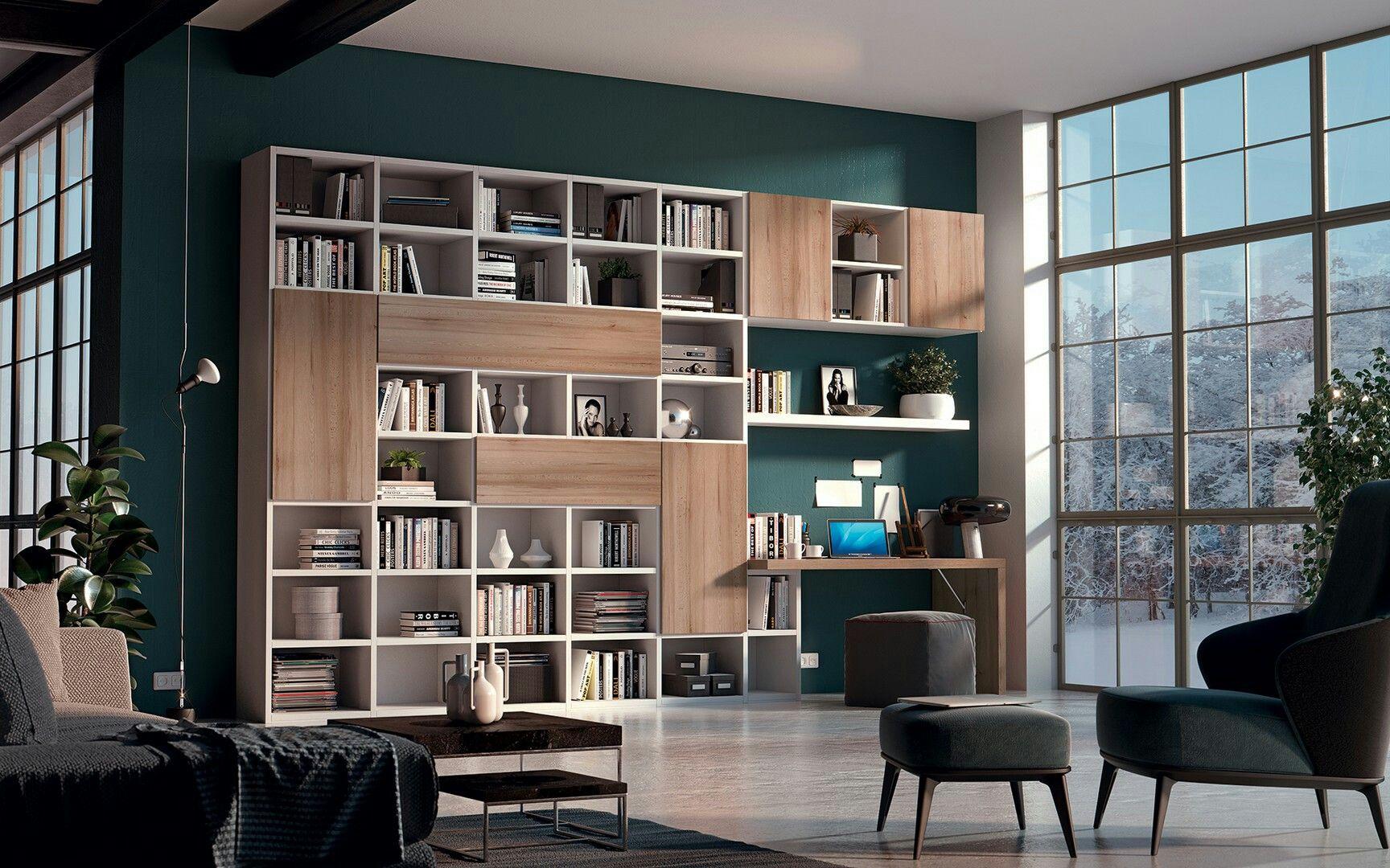 Essegi | Idee arredamento soggiorno, Scaffali soggiorno ...
