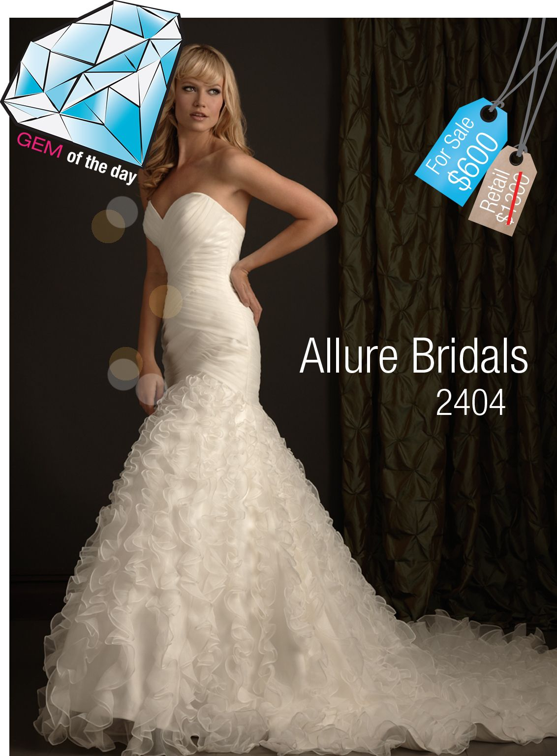 Gem of the Day - Allure Bridals Used Wedding Gown - $700 Off ($600 ...
