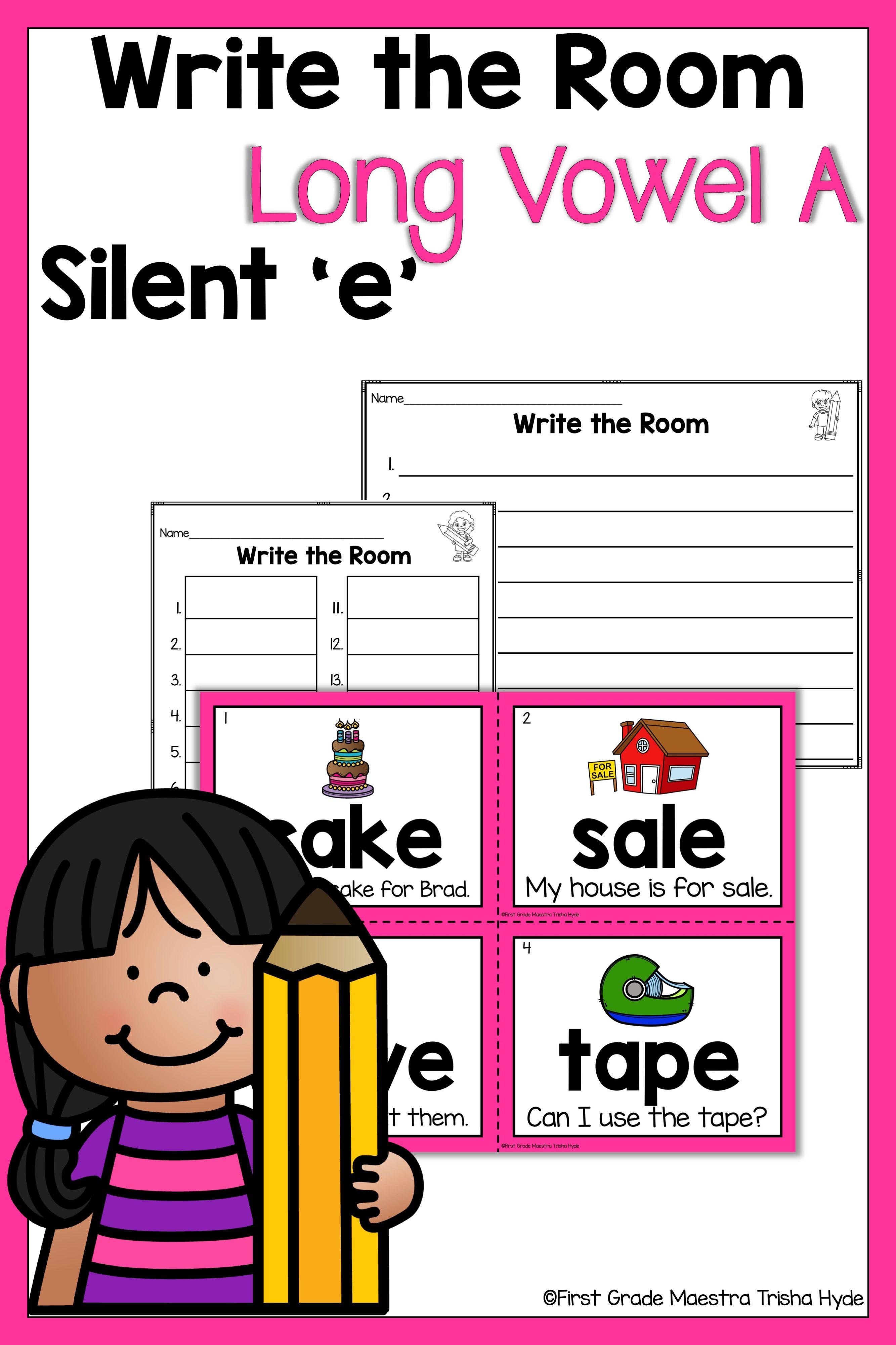 medium resolution of Write the Room Long Vowel A Silent E   Silent e