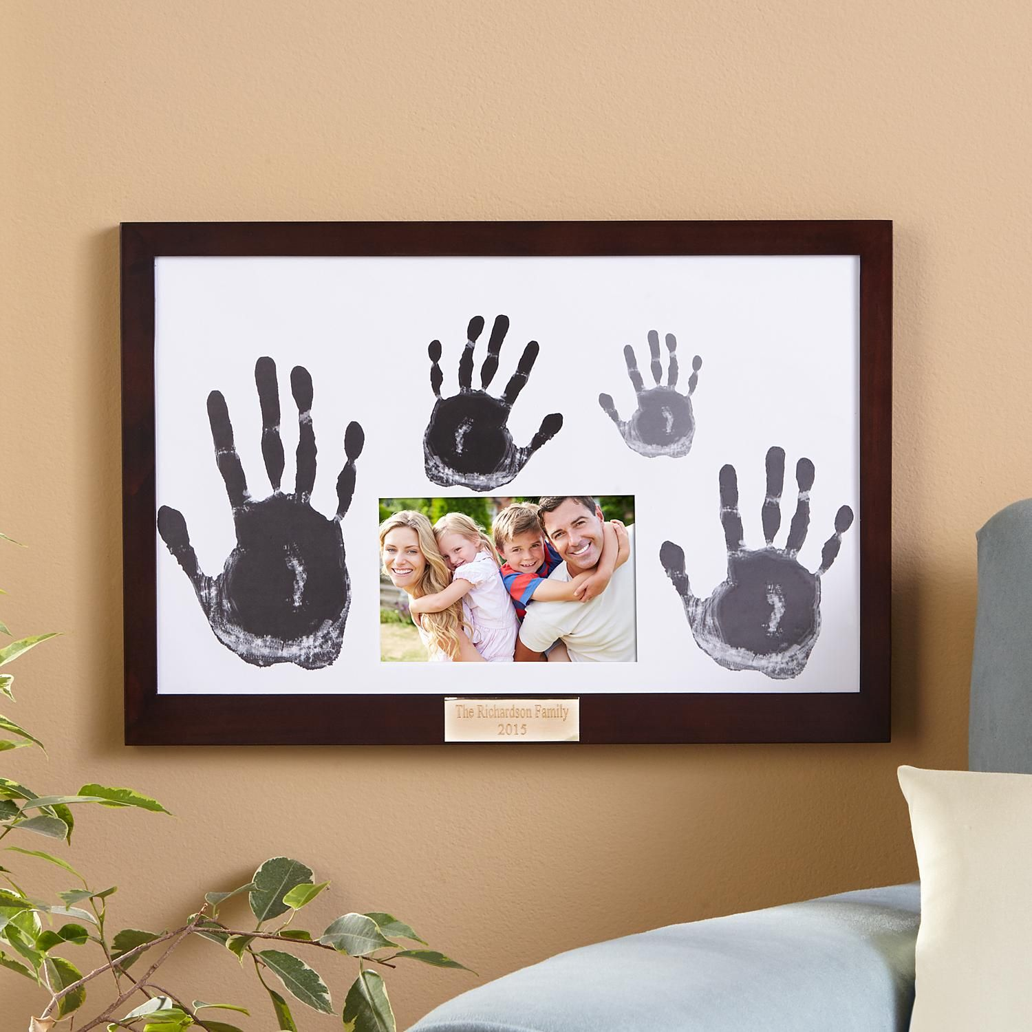 Personalized Family Handprint & Frame - Personal Creations Gifts