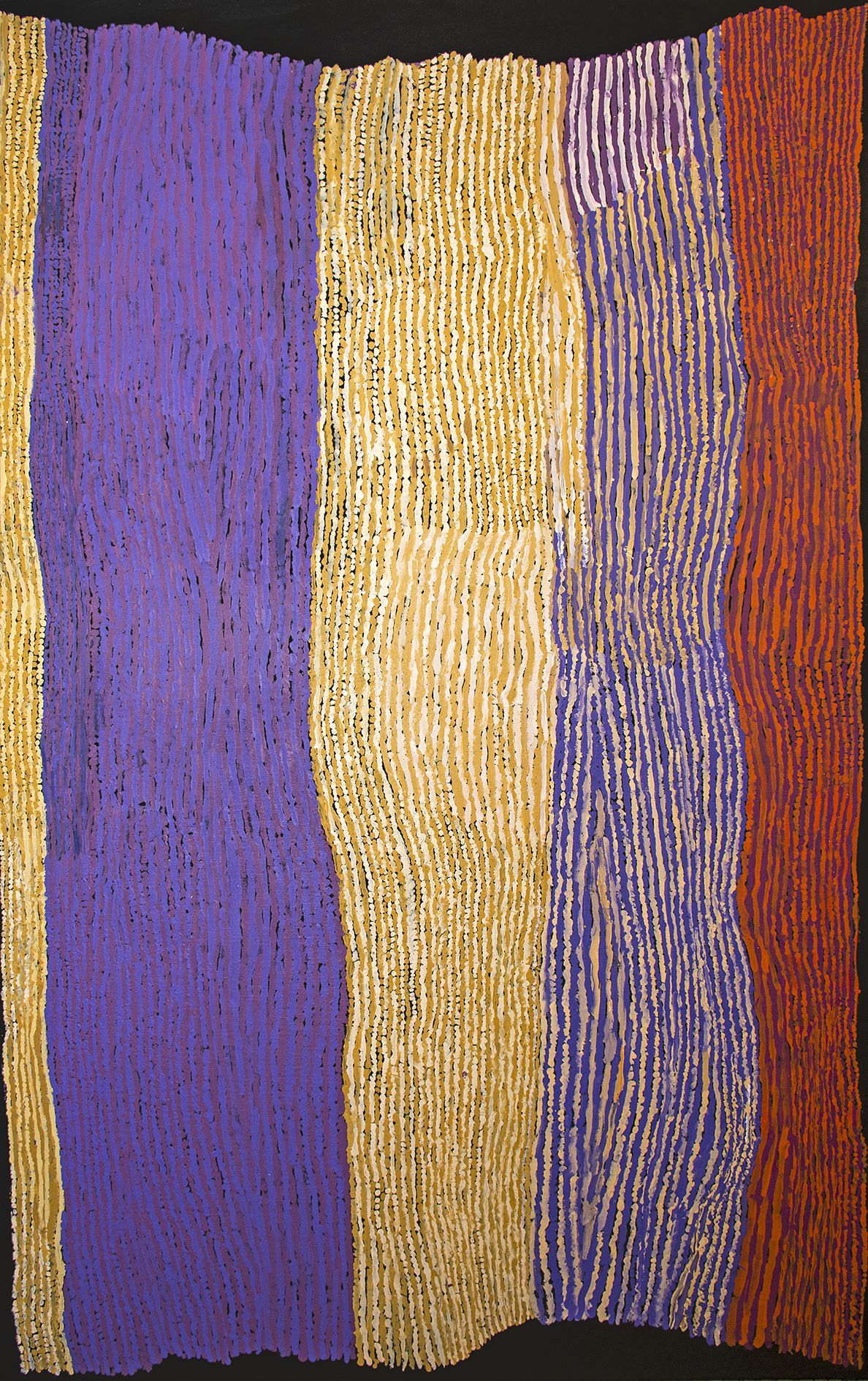 Ray Ken - Tali - Sand dune - 198x122 cm http://www.aboriginalsignature.com/art-aborigene-tjala/ray-ken-tali-sand-dune-198x122-cm-520-15