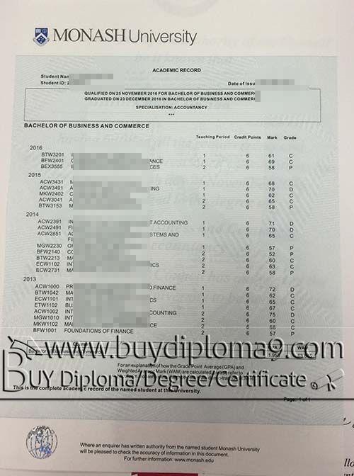 Monash university transcript, Buy diploma, buy college diploma,buy
