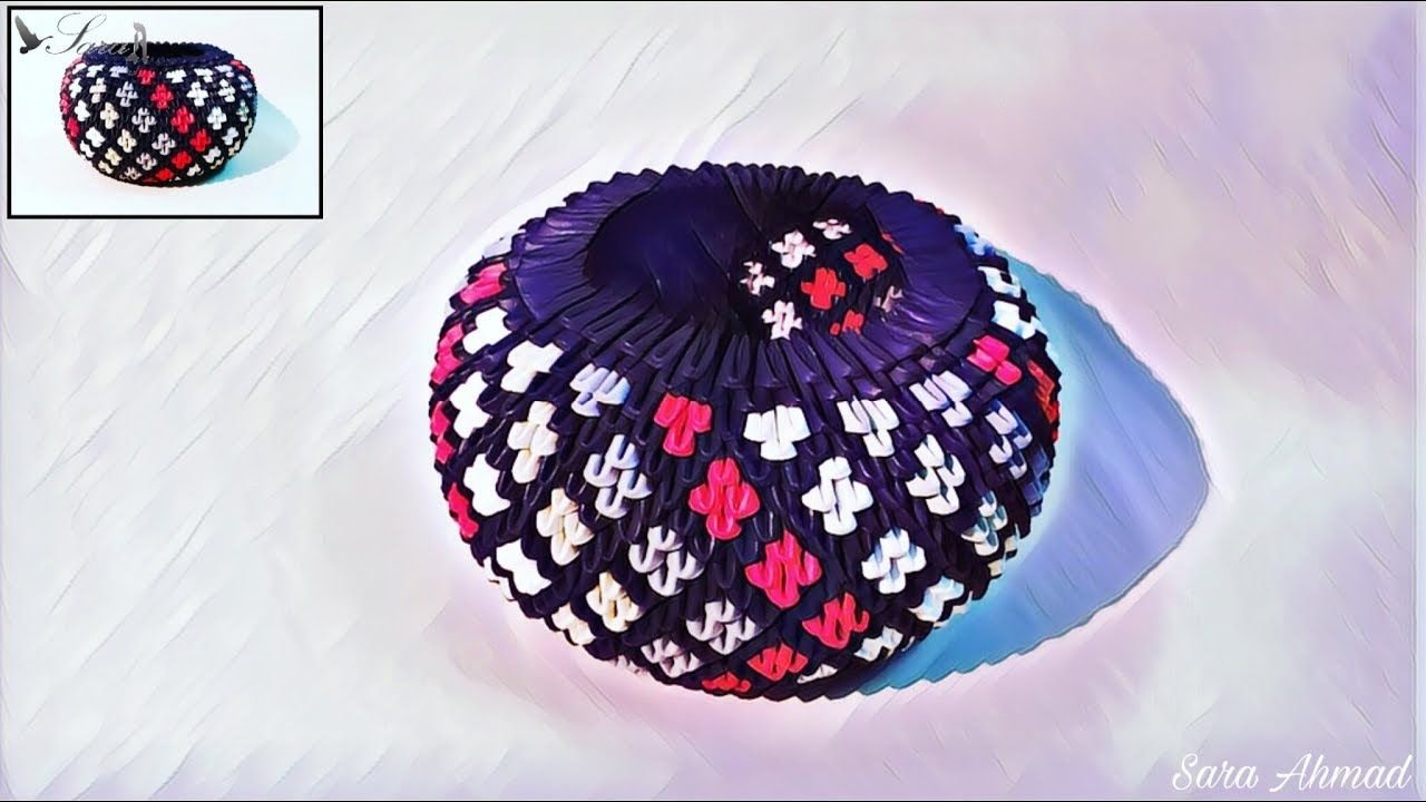 How to make a 3D origami Large Basket - YouTube   720x1280