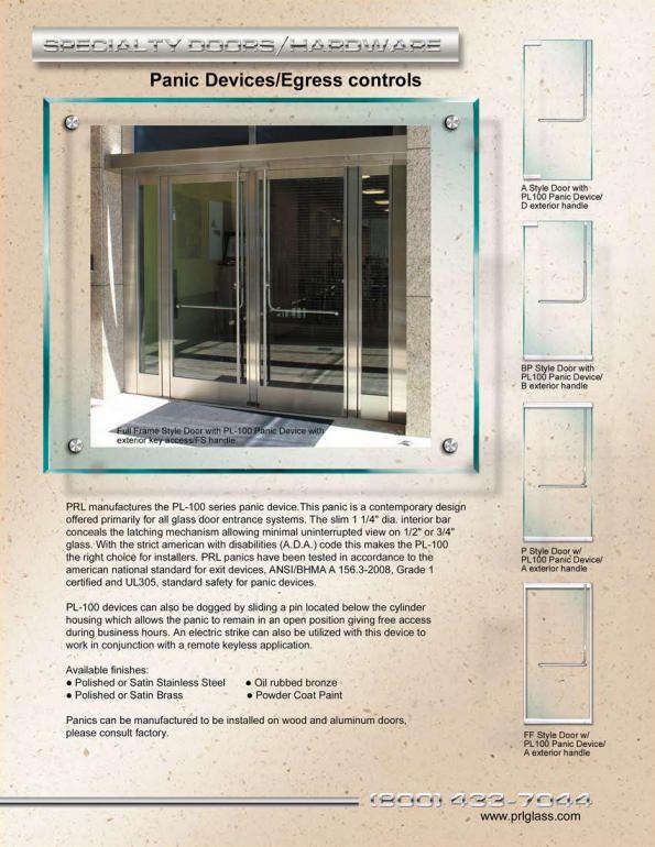 PRL Panic Door Devices and Egress Controls & PRL Panic Door Devices and Egress Controls | Ladder Pulls \u0026 Door ...