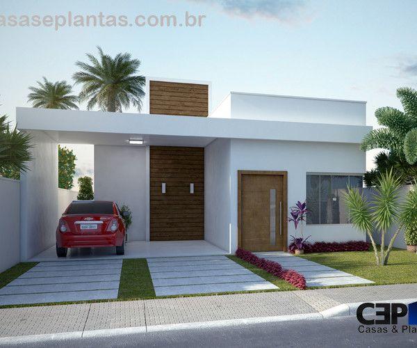 Fachada casa com laje sem telhado ideias para a casa for Modelos casas modernas para construir