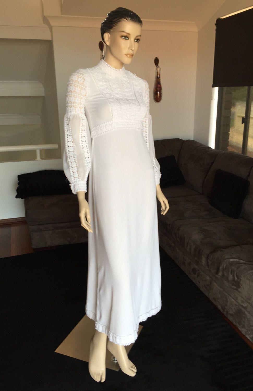 Vintage Hippie Boho Wedding/Evening Gown Melbourne XS