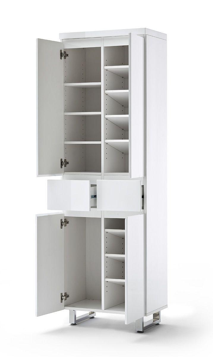 Schuhschrank Bianco V Hochglanz weiß passend zum Möbelprogramm ...