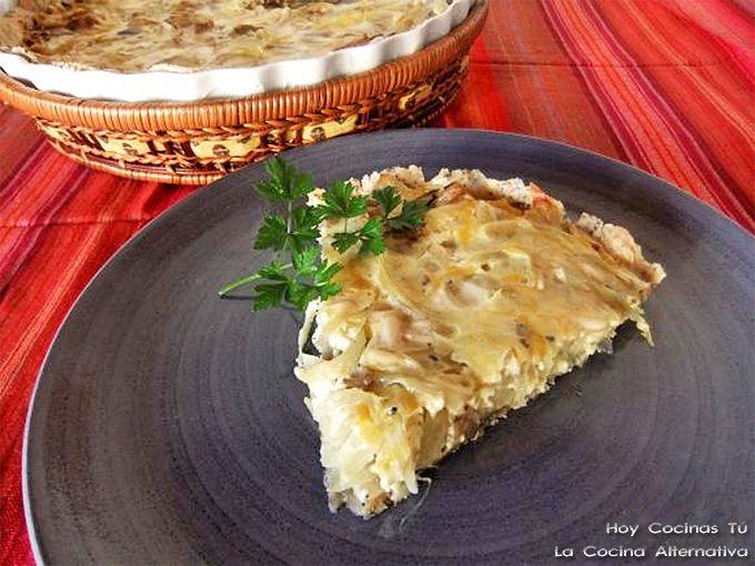 Hoy Cocinas Tú: Quiché de setas, cebolla y queso roquefort