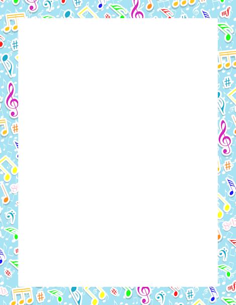 Printable Music Notes Border Free Gif Jpg Pdf And Png S Music Border Music Notes Page Borders