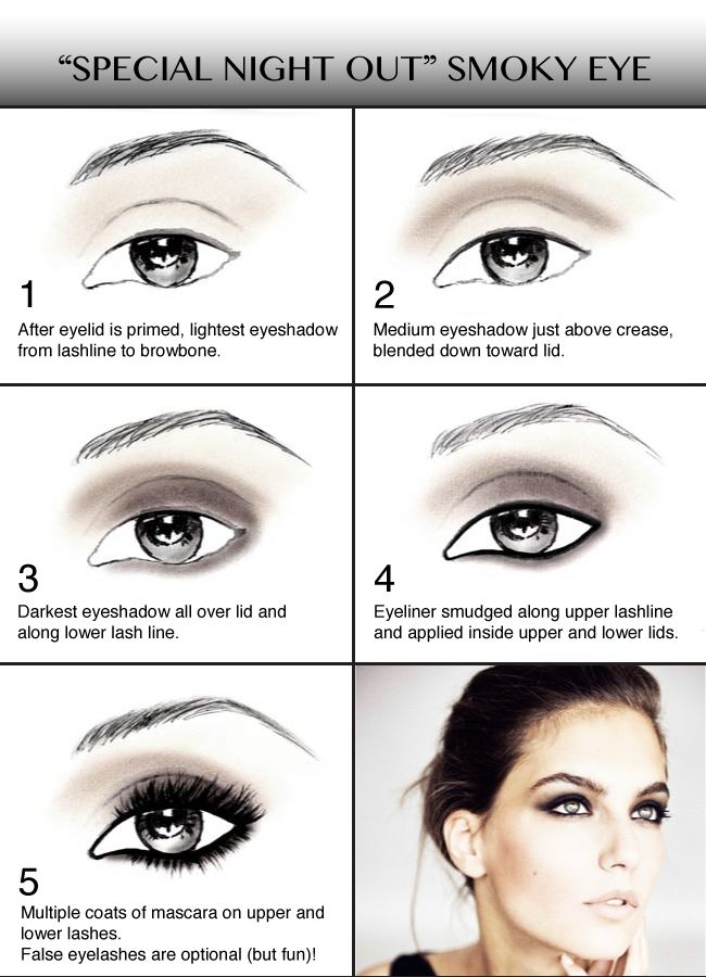 Special Night Out Smoky Eye Instructions: Basic But