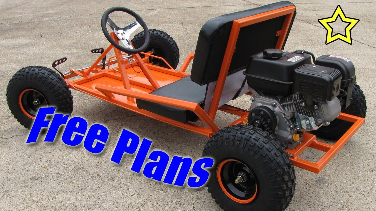 Go Kart Build Free Plans (PDF Download) | kids | Go kart plans, Diy