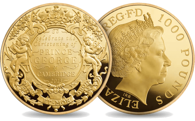 The Royal Mint S First 1kg Fine Gold Coin To Commemorate The Christening Of His Royal Highness Prince George Of Ca Buy Gold And Silver Gold Bullion Coins Coins