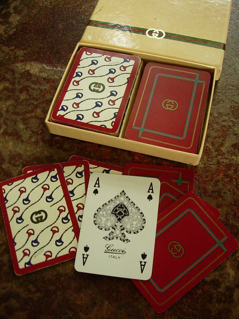 Rare vintage gucci playing cards playing card deck