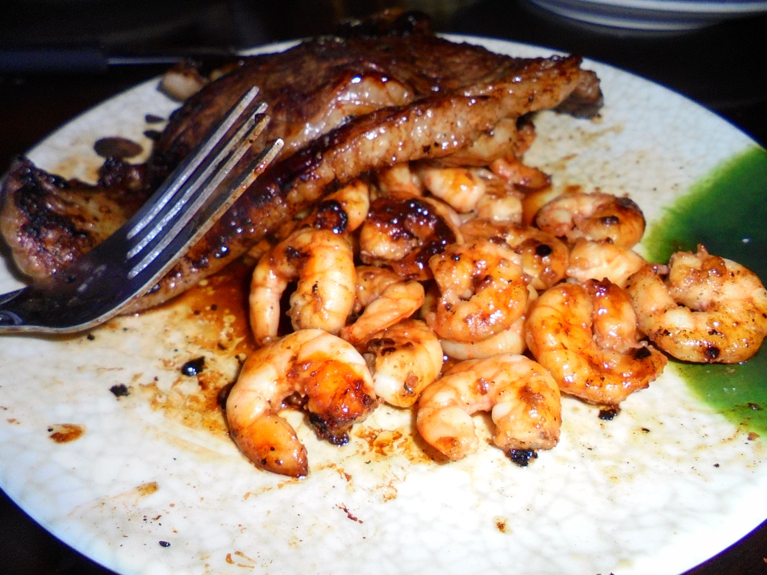 #GrilledShrimp and #GrilledHibachiSteak from #PanasianPhilly