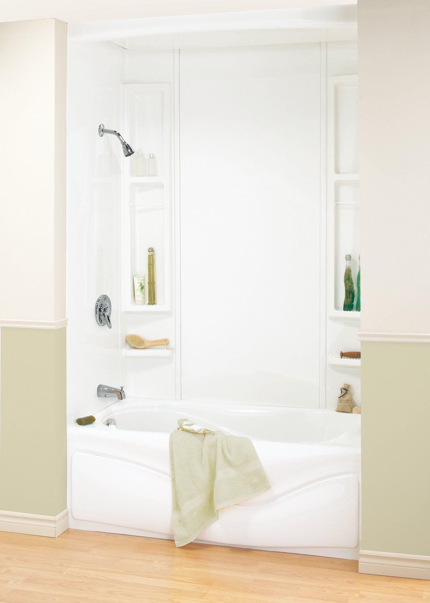 Maax 101595-000-129 5-Piece Bathtub Wall Kit, White | Bathtub walls ...