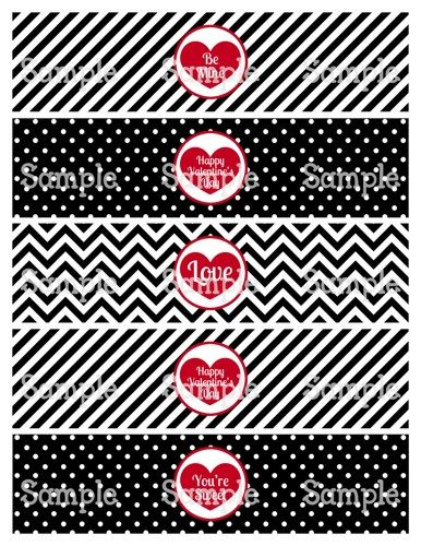 Printable M2M Happy Valentineu0027s Day Water Bottle Label Wrapper - water bottle label template