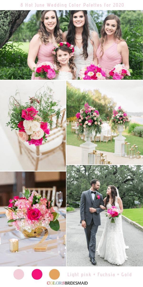 8 Hot June Wedding Color Palettes for 2020 June wedding