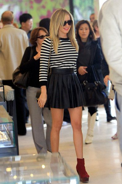 Ashley Tisdale Mini Skirt | Ashley tisdale, Clothes and Leather ...