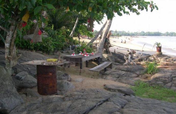 beach restaurant in Kribi