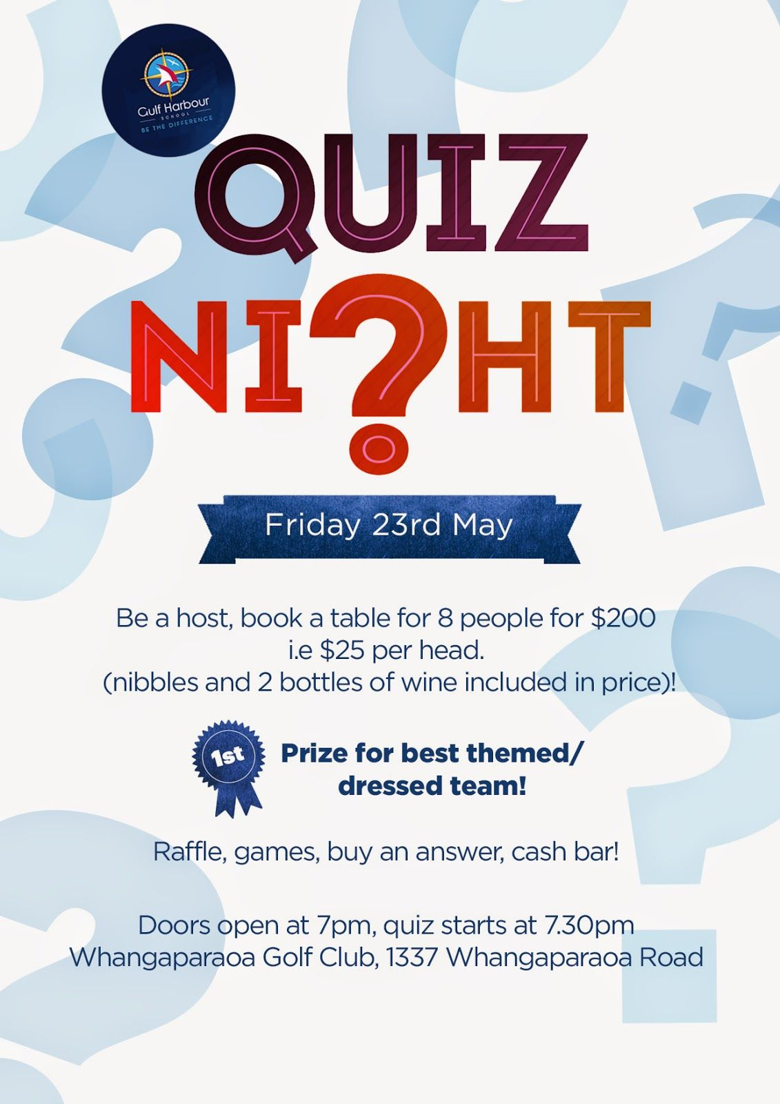 Pto Quiz Night  Google Search  Poster    Template