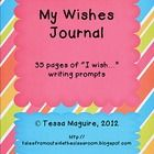 "35 pages of ""I wish..."" writing prompts ready to be bound into a journal"