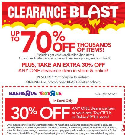 Toys R Us Clearance 70 Off Extra 30 Off Free Lunch Kit And
