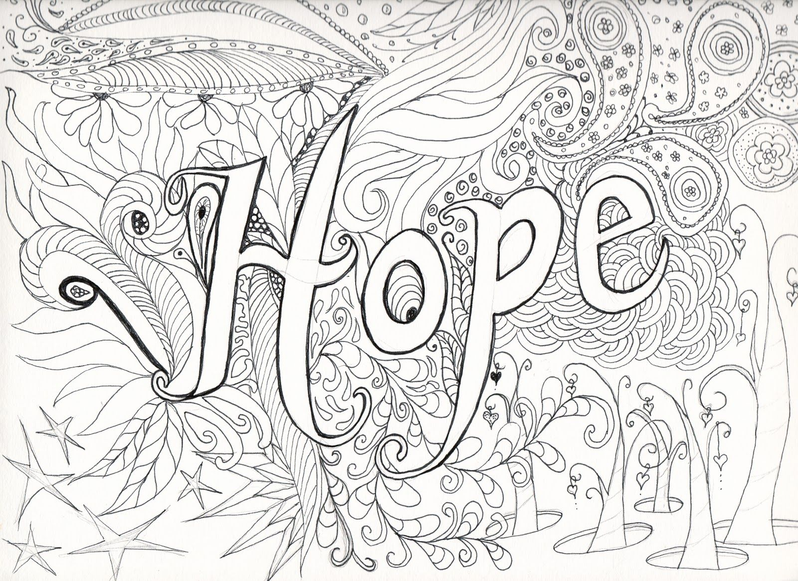 very advanced coloring pages for adults hope before