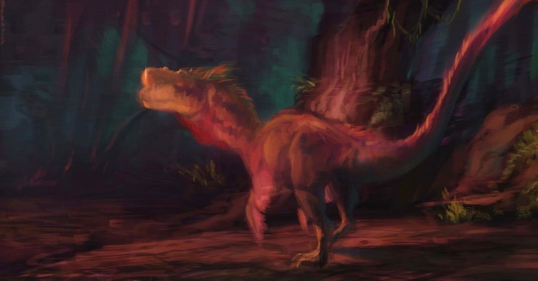 Looser style painting of a Dilophosaurus, focused more on colors than rendering. Another requested prehistoric creature (probably last one… #prehistoriccreatures Looser style painting of a Dilophosaurus, focused more on colors than rendering. Another requested prehistoric creature (probably last one… #prehistoriccreatures